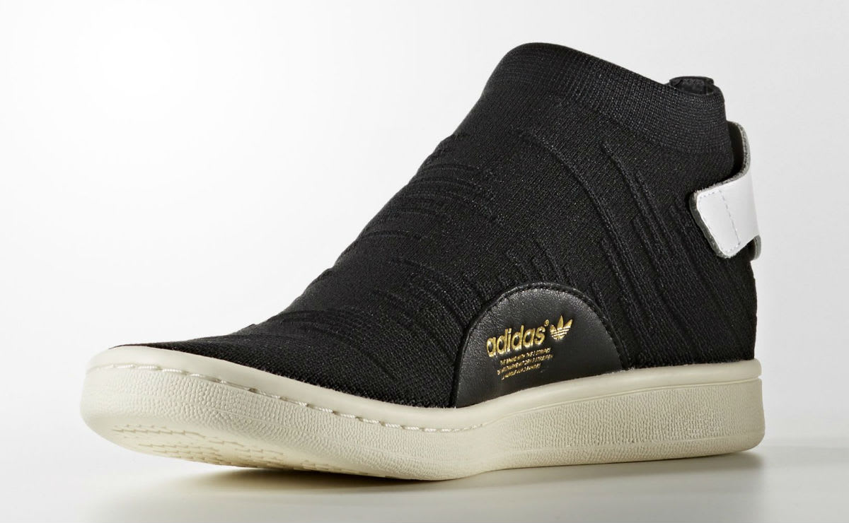 Adidas Stan Smith Sock Primeknit Sock Black Medial