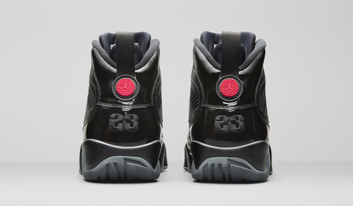 Air Jordan 9 Retro Black Red Patent 792454