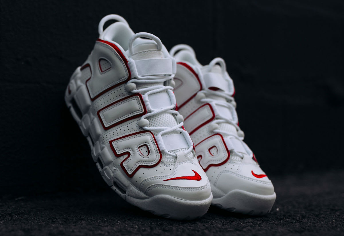 Nike Air More Uptempo Varsity Red Release Date 921948-102 Front