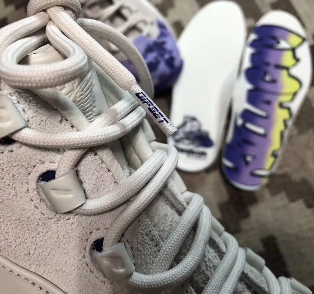Cam'ron x Reebok Question Dipset Purple Camo Release Date Laces