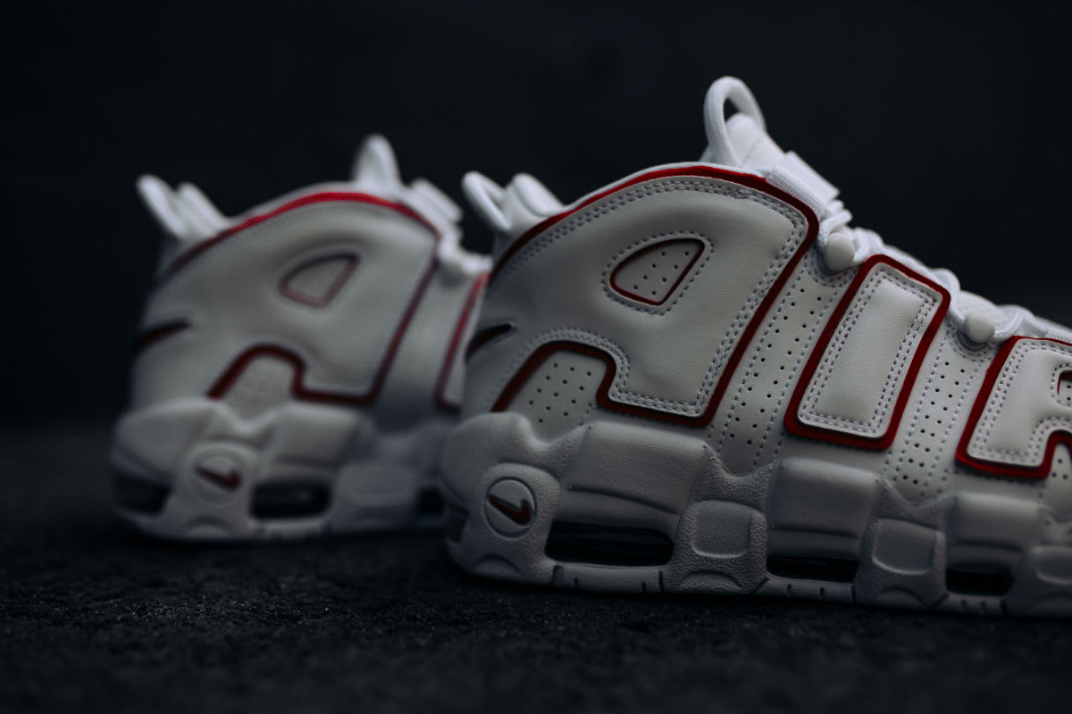 Nike Air More Uptempo Varsity Red Release Date 921948-102 Back