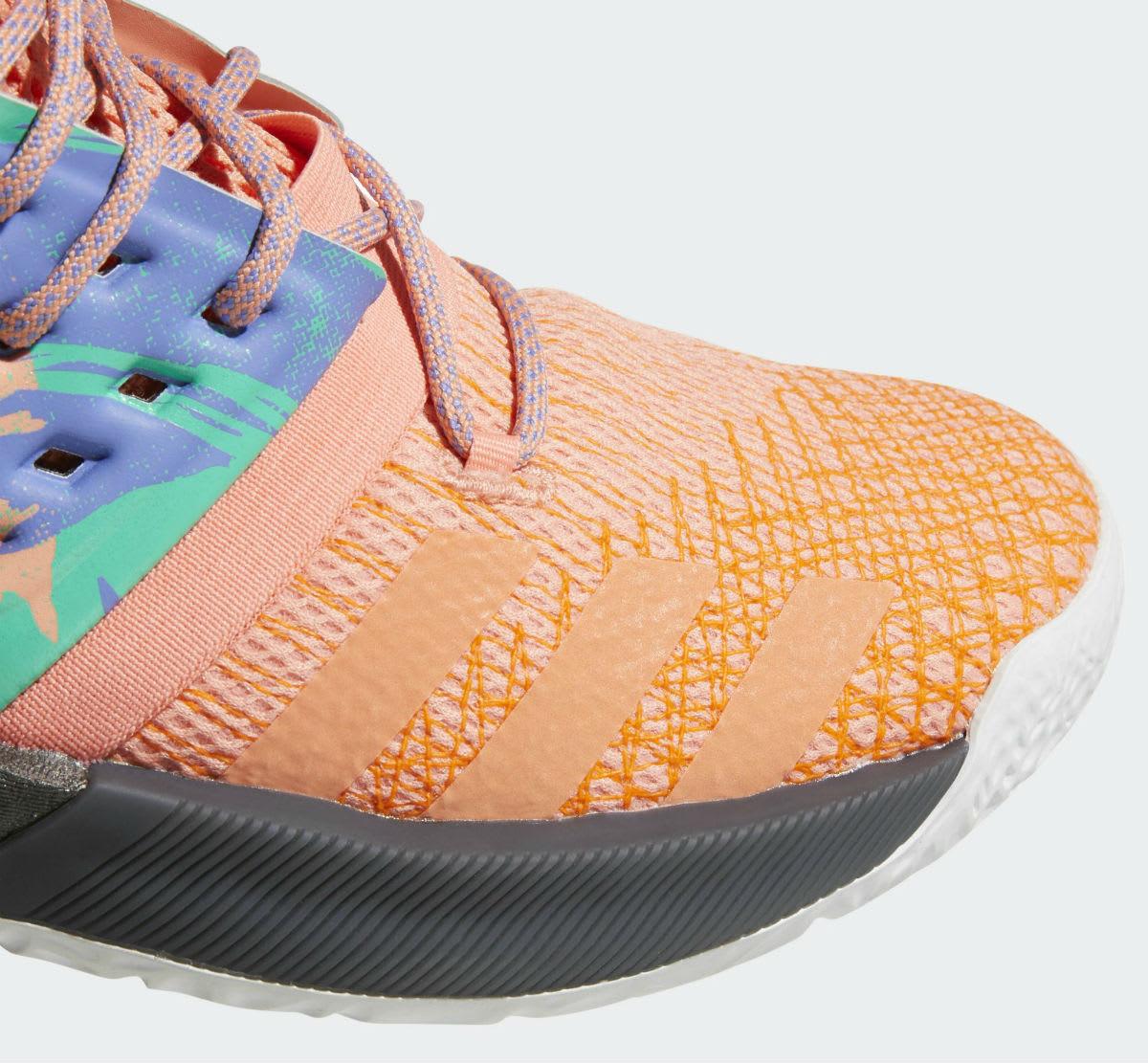 Adidas Harden Vol. 2 Orange Release Date AH2219 Toe