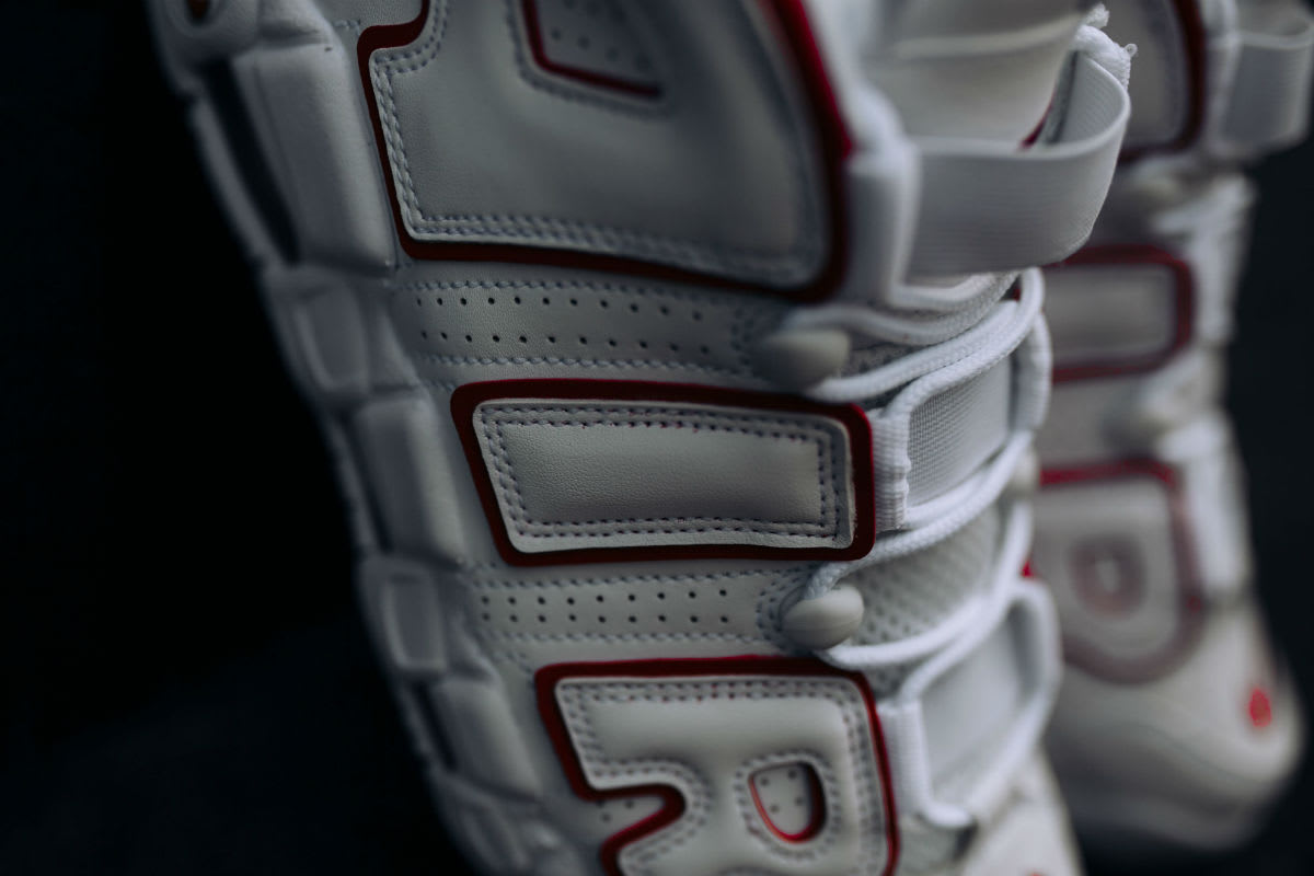 Nike Air More Uptempo Varsity Red Release Date 921948-102 Quarter