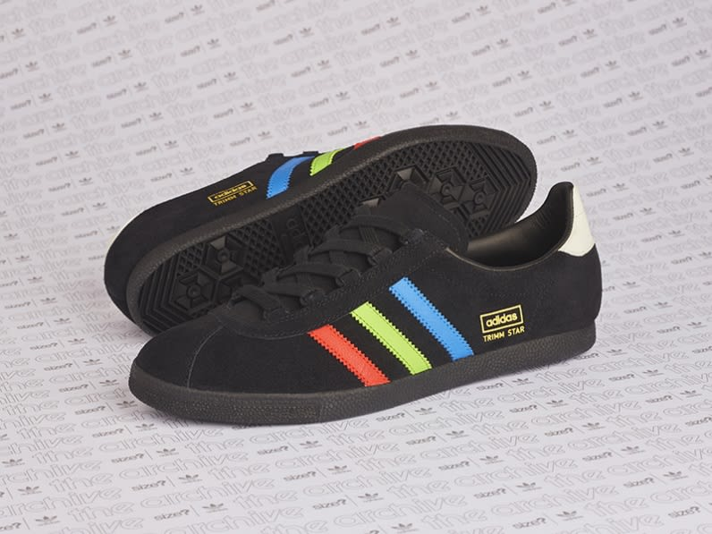 Size? x Adidas Trimm Star VHS Release Date Side