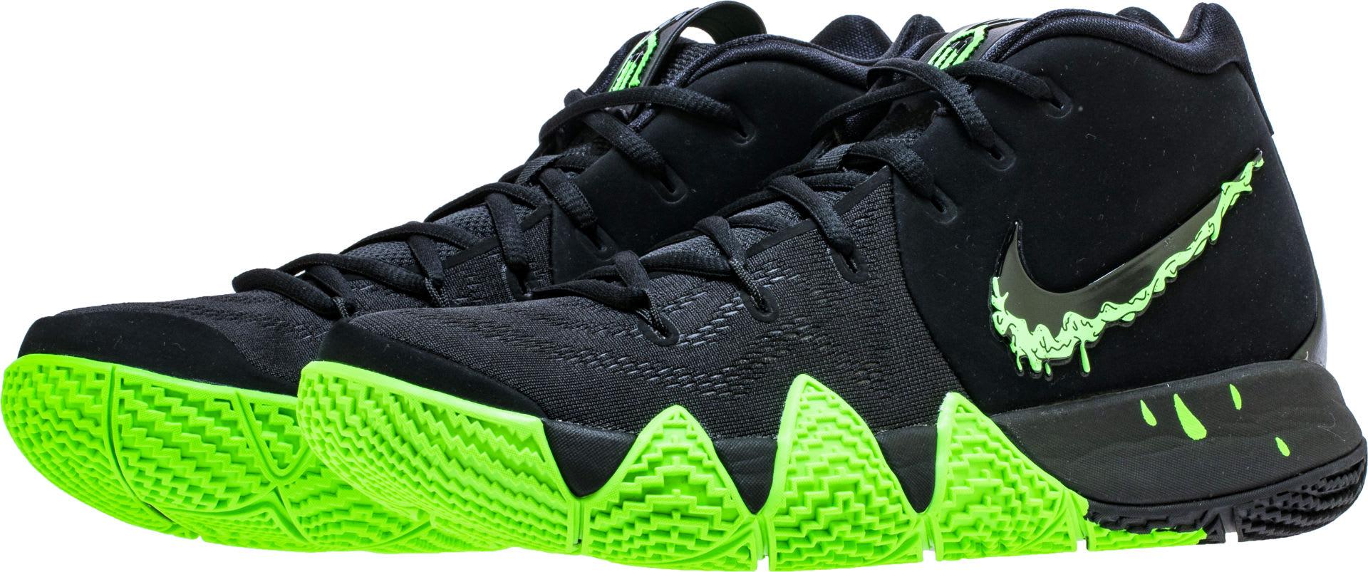 Nike Kyrie 4 Black Rage Green Halloween Release Date 943806-012 Pair
