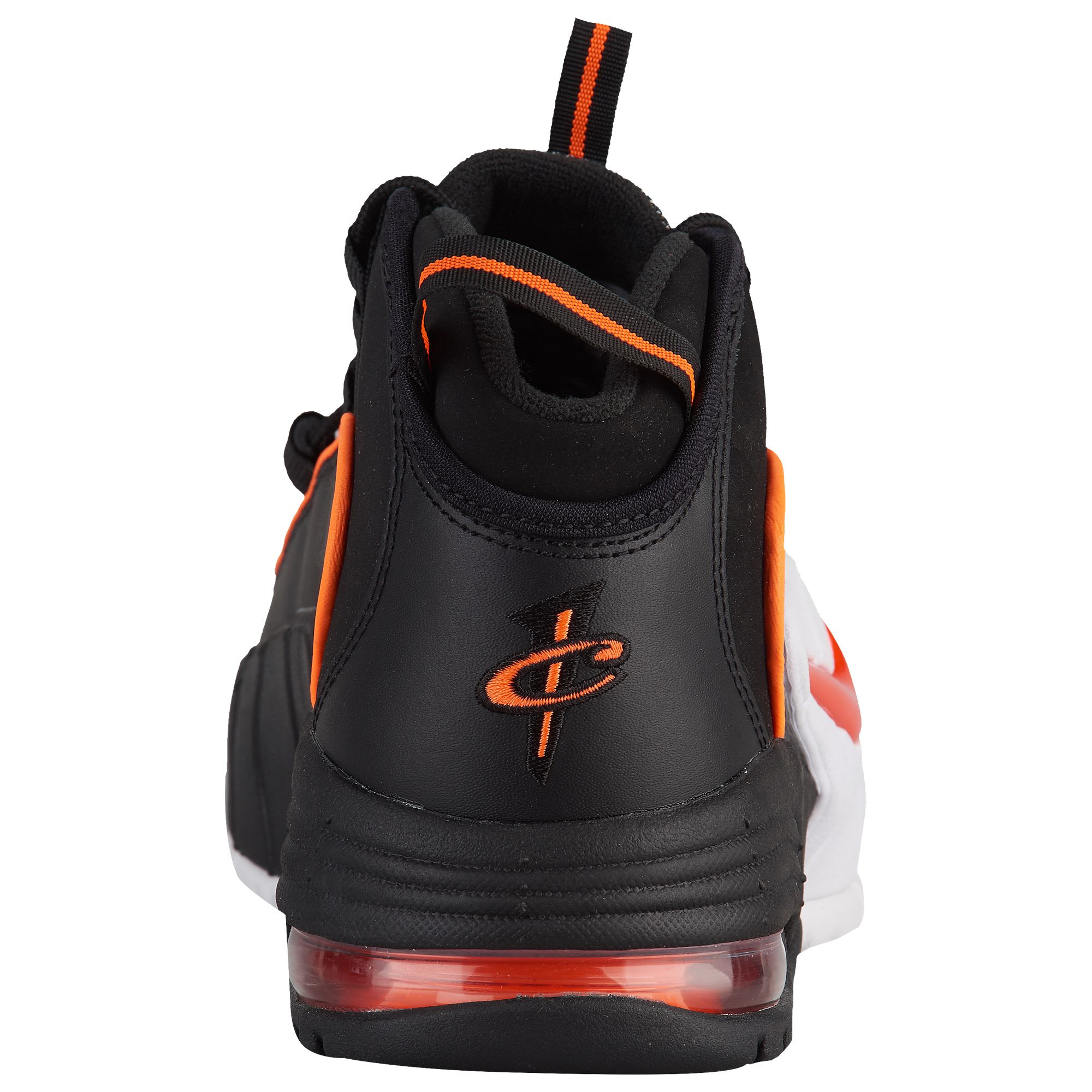 Nike Air Max Penny 1 Black Total Orange White Release Date 685153-002 Heel