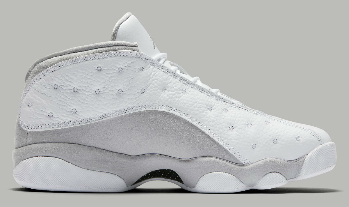 Air Jordan 13 Low Pure Platinum Release Date Medial 310810-100