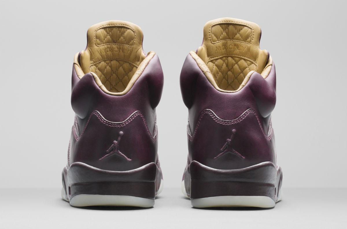 Air Jordan 5 Premium Bordeaux Release Date Heel 881432-612