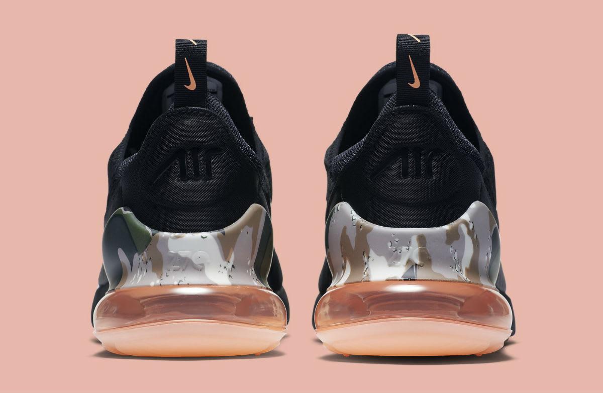 Nike Air Max 270 Sunset Tint Camo Heel Release Date AQ6239-001 Heel