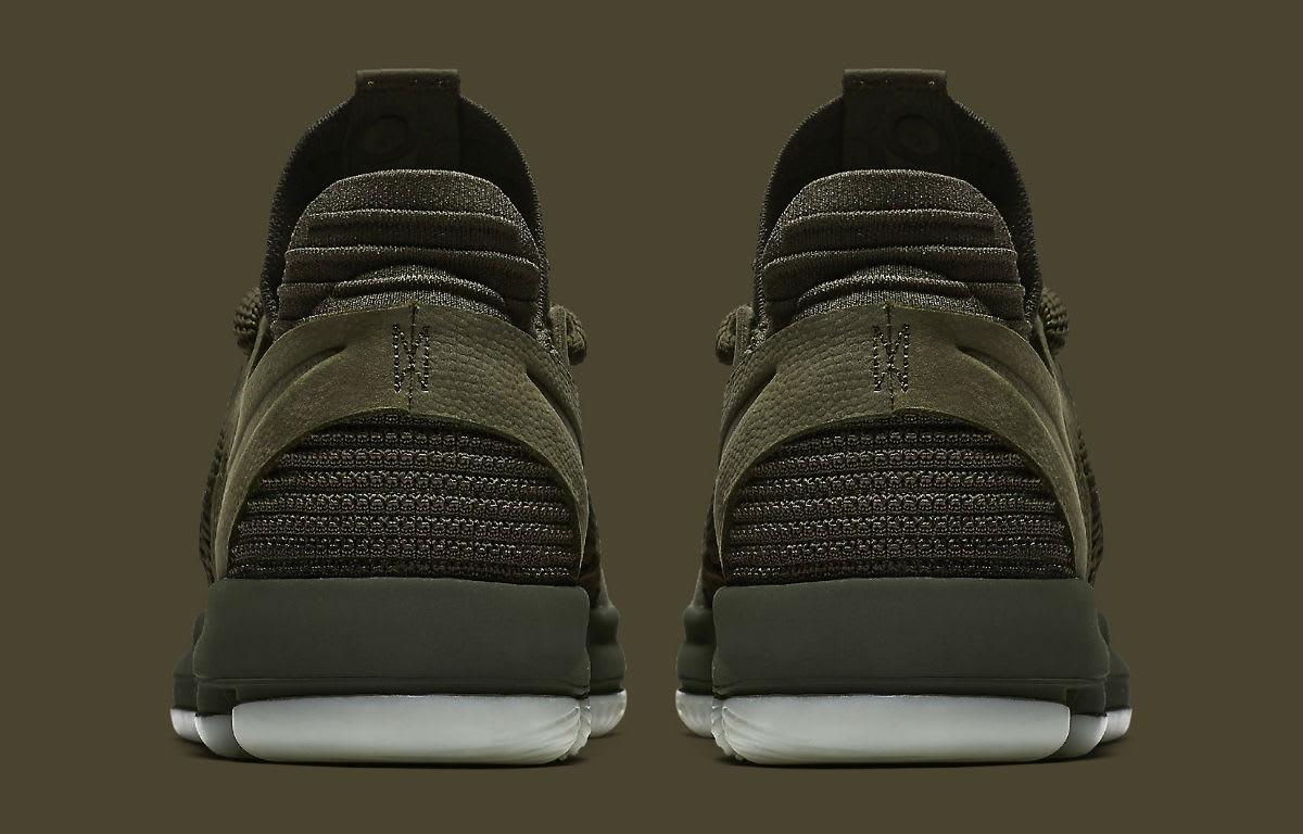 NikeLab KD 10 Olive Release Date Heel 943298-900