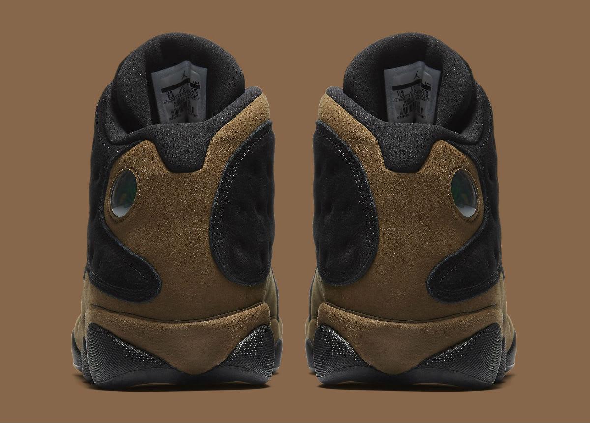 best cheap 38731 1bfc3 ... Retro BG, BLACKTRUE RED-LIGHT OLIVE  separation shoes f3f7d e7c29 Air  Jordan 13 XIII Olive Release Date 414571-006 Heel ...