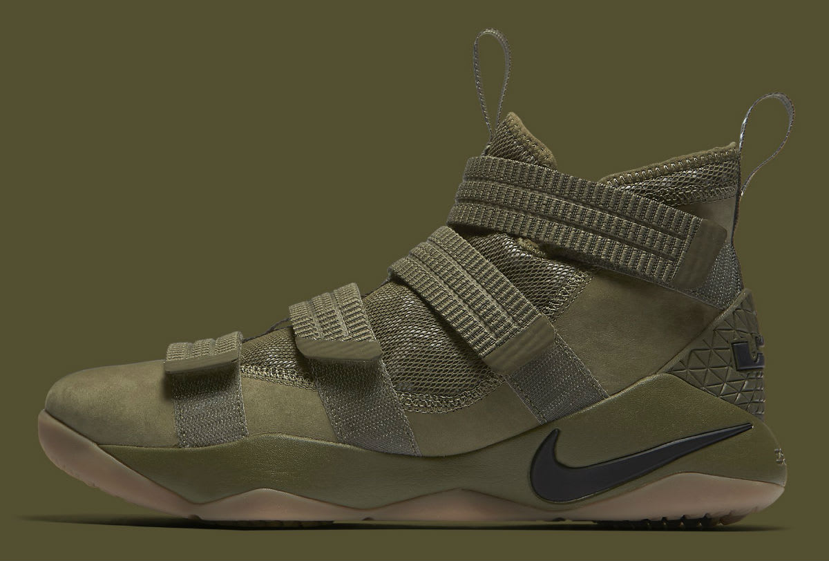 Nike LeBron Soldier 11 SFG Olive Release Date Profile 897646-200