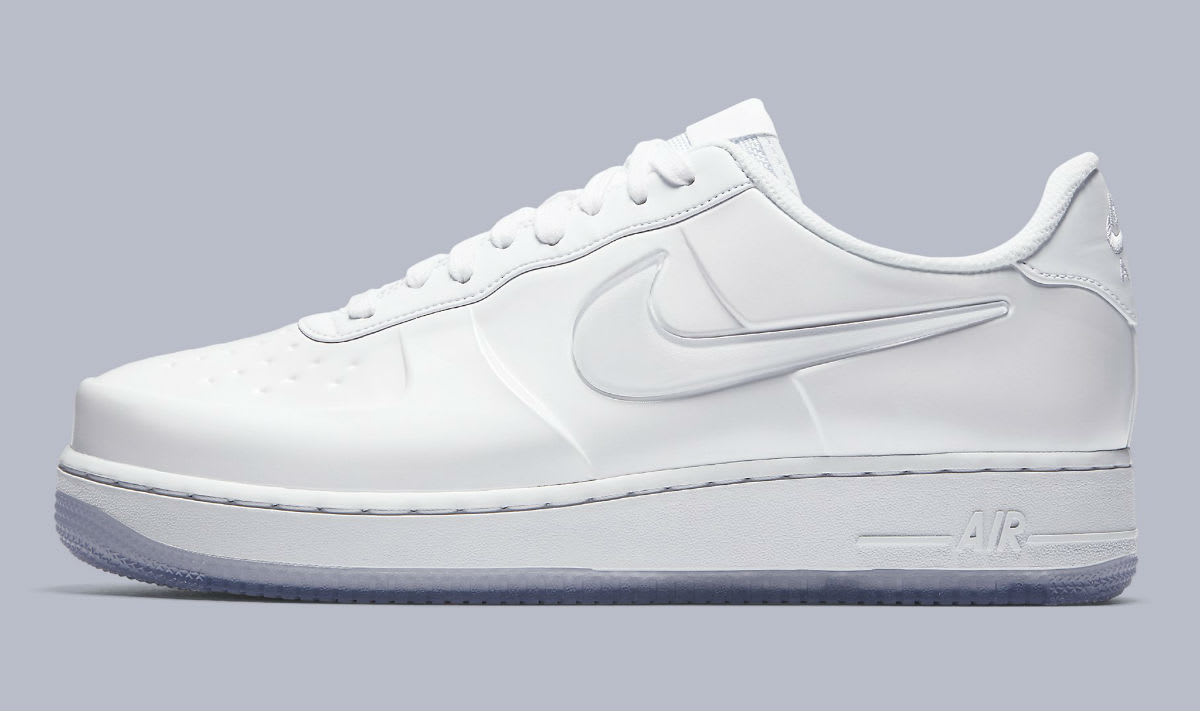 Nike Air Force 1 Foamposite Pro Cup White Release Date AJ3664-100 Profile