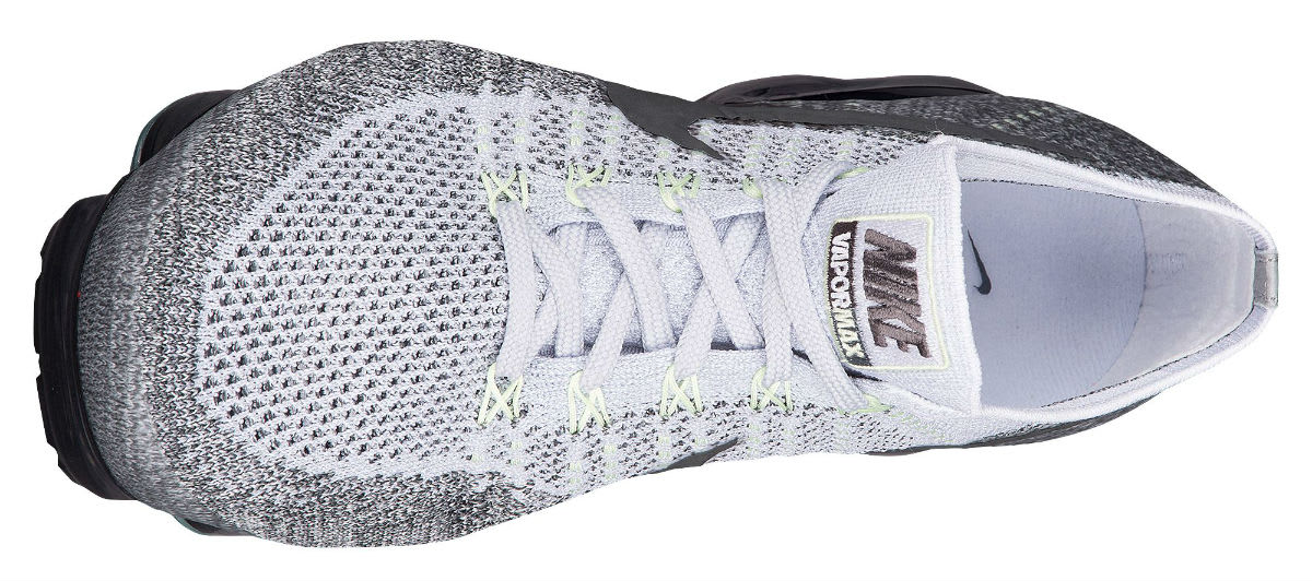 Nike Air VaporMax Flyknit Heritage Pack Pure Platinum White Dark Grey Release Date 922915-002 Top