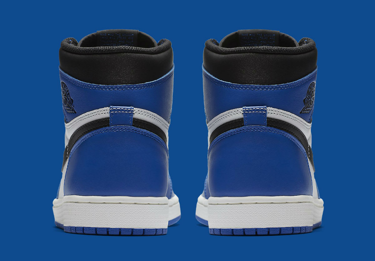 Air Jordan 1 High Game Royal Release Date 555088-403 Heel