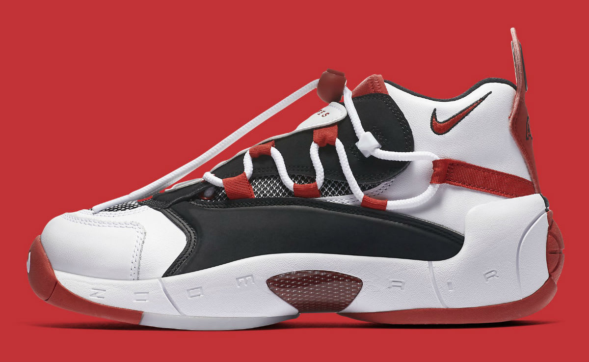 Nike Air Swoopes 2 II White Red Release Date 917592-100 Profile