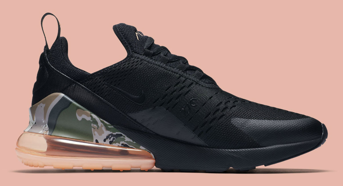 Nike Air Max 270 Sunset Tint Camo Heel Release Date AQ6239-001 Medial
