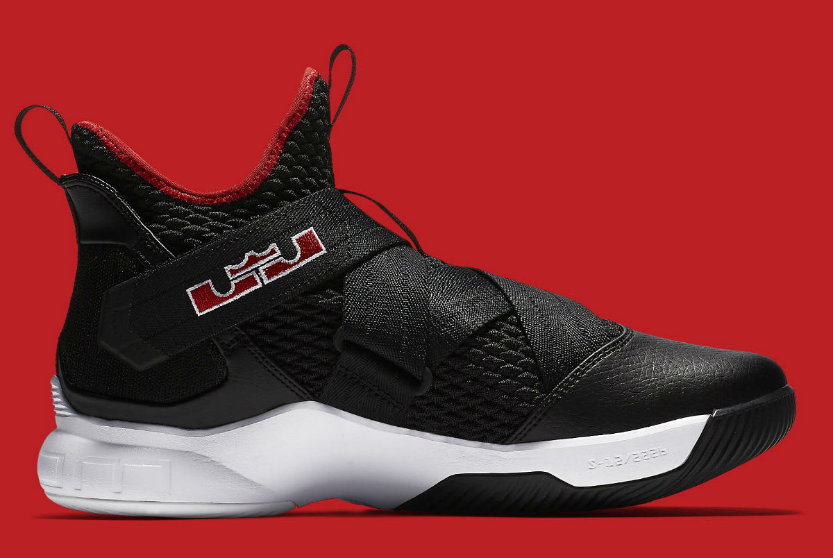 Nike LeBron Soldier 12 Bred Release Date AO4053-001 Medial