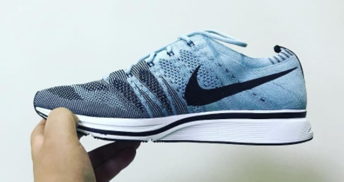 Nike Flyknit Trainer 'Cirrus Blue/Black-White' AH8396-400 (Medial)