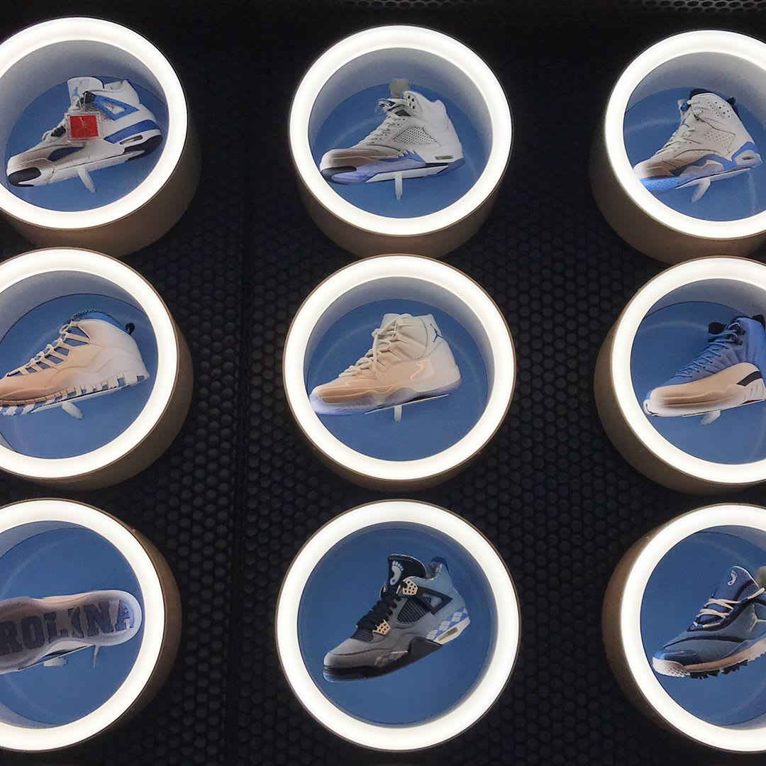 UNC Air Jordan Wall (2)