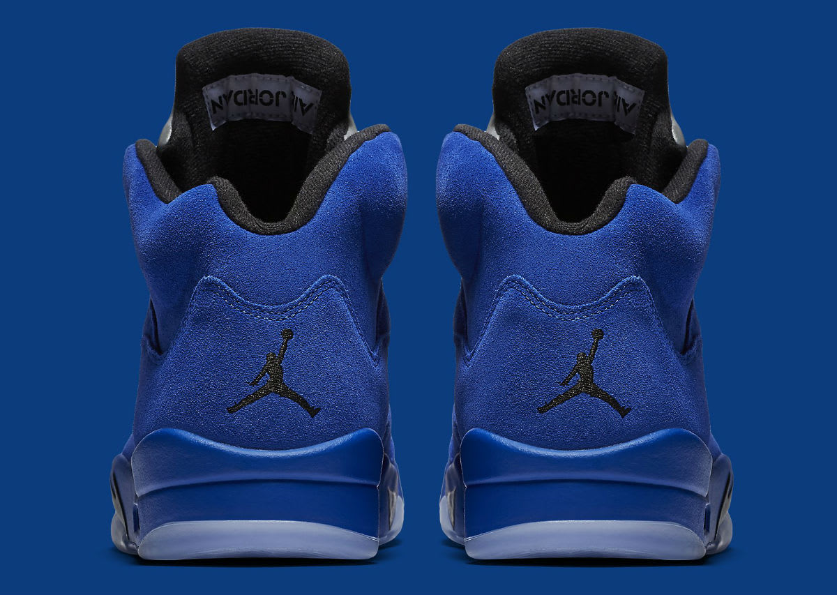 Air Jordan 5 Royal Blue Suede Flight Suit Release Date Heel 136027-401