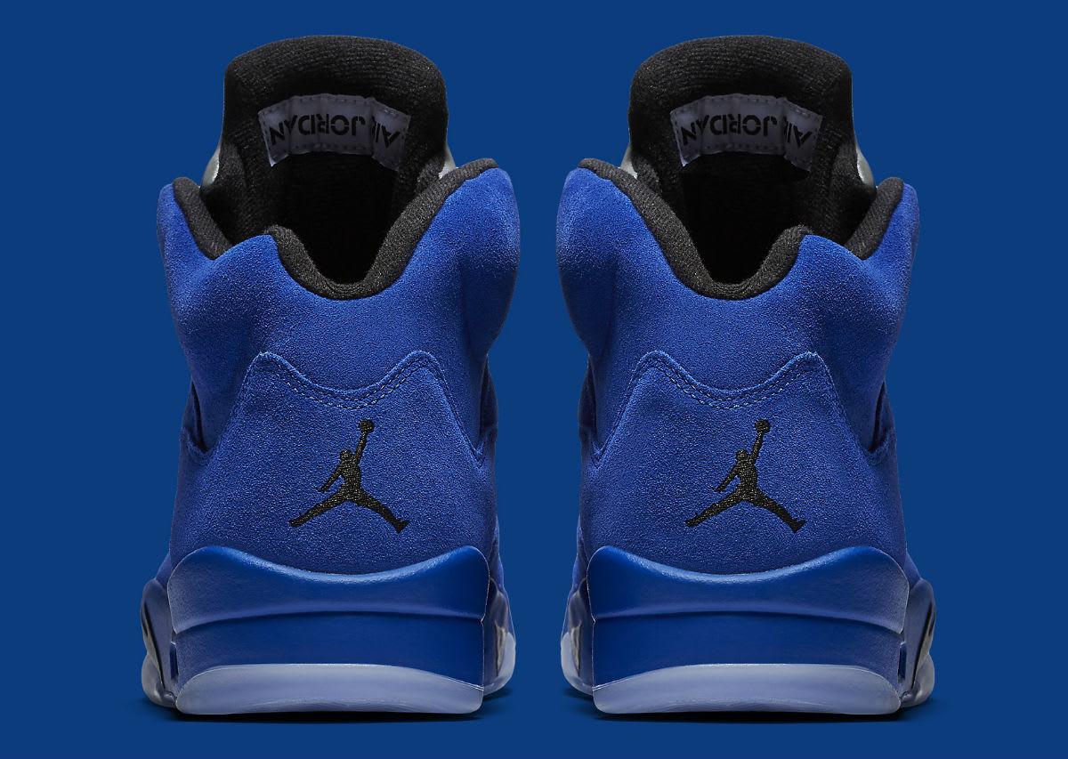 Air Jordan 5 Royal Blue Suede Flight Suit Release Date Heel 136027-401