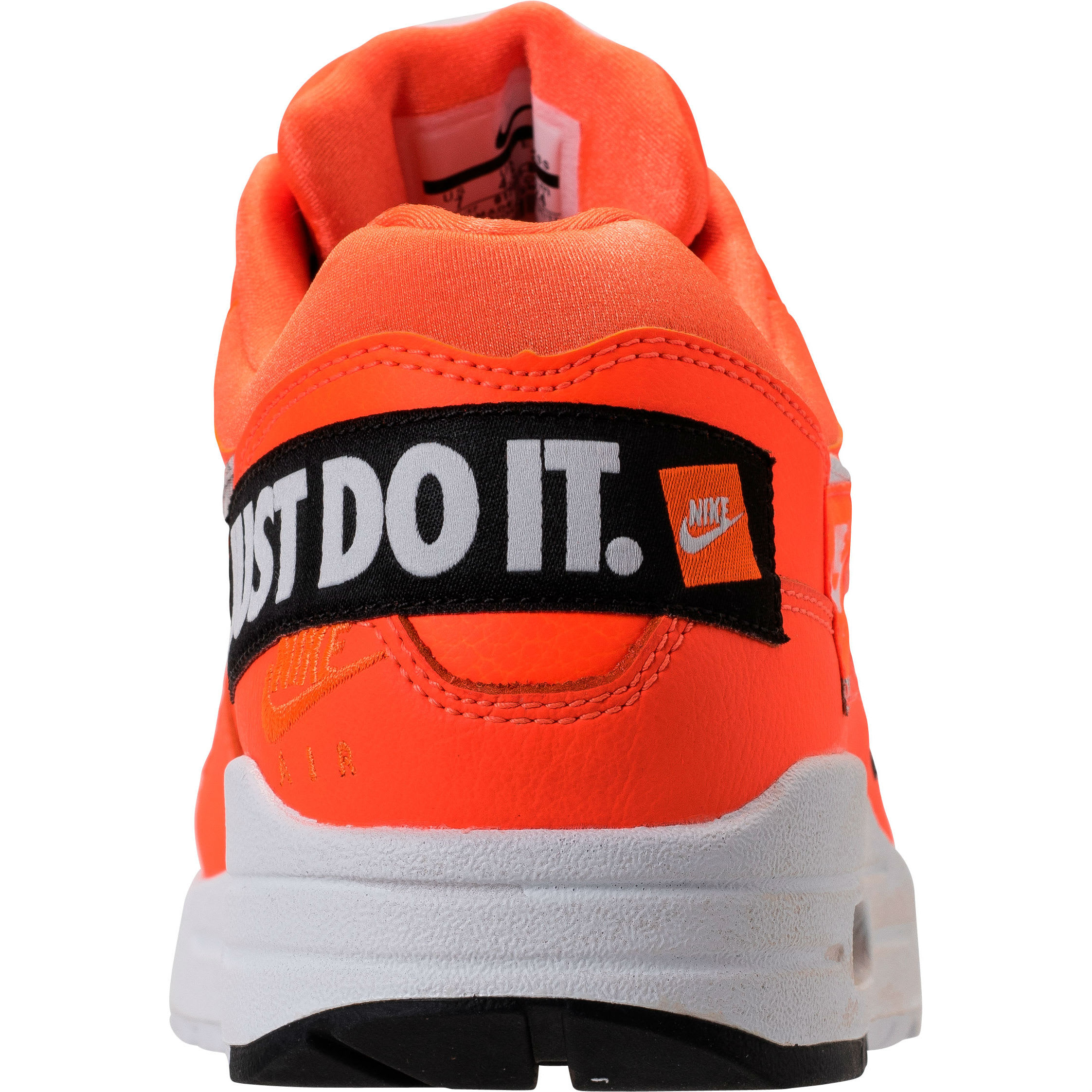 Nike Air Max 1 Just Do It Orange Release Date 917691-800 Heel