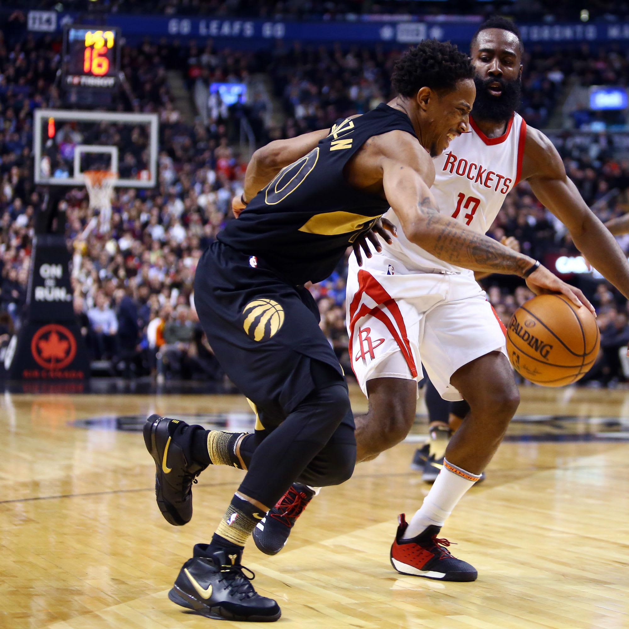DeMar DeRozan Nike Zoom Kobe 1 Black Gold