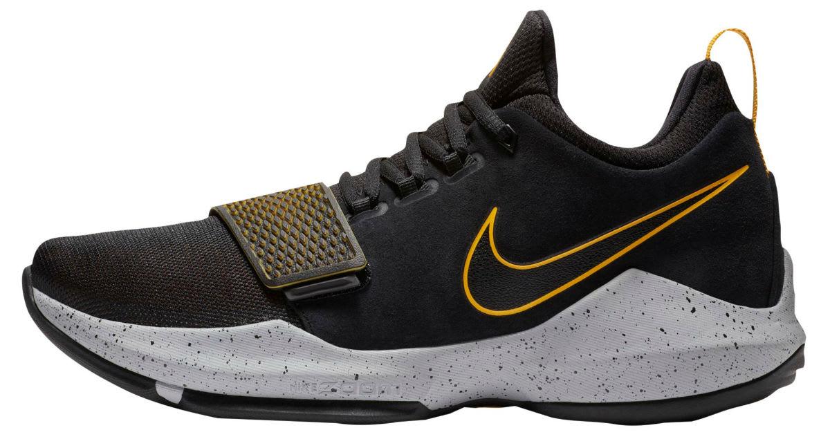 Nike PG1 Black University Gold Wolf Grey Release Date 878627-006 Left Profile