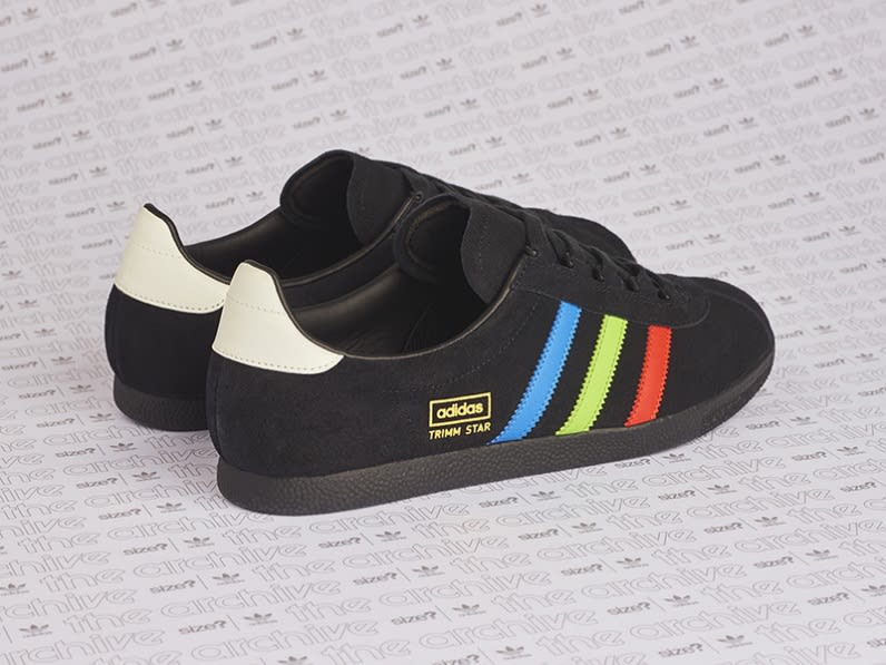 Size? x Adidas Trimm Star VHS Release Date Heel