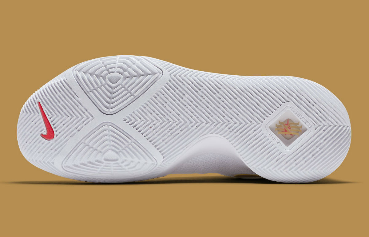 Nike Kyrie 3 White/Gold Release Date Sole 852396-902