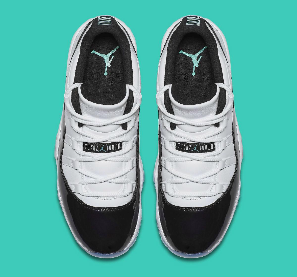 Air Jordan 11 XI Low Emerald Easter Release Date 528895-145 Top