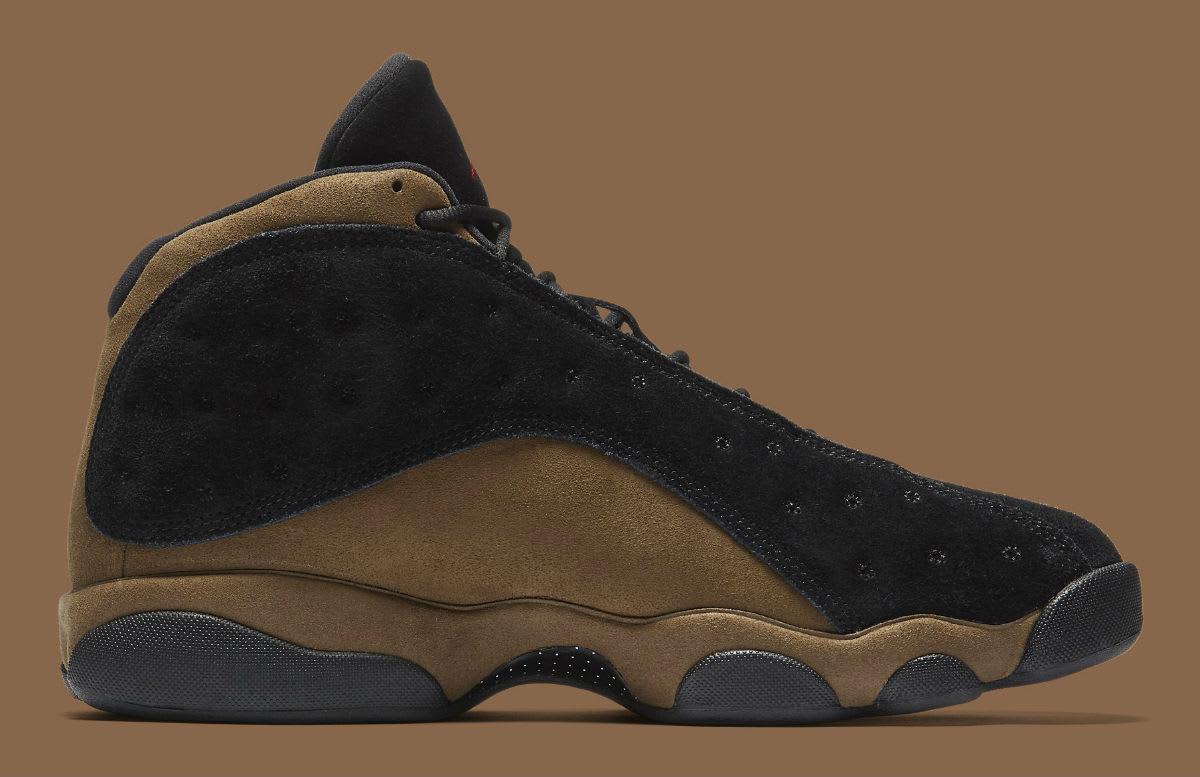 Air Jordan 13 XIII Olive Release Date 414571-006 Medial