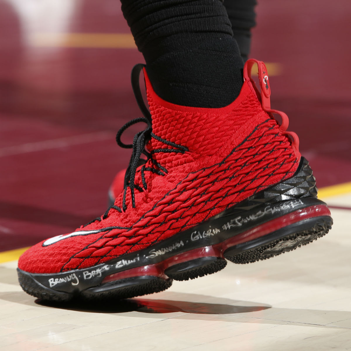 e2516204ac4 ... ohio state university player exclusive 750e3 357a2  shop nike lebron 15  red griffey side 7725b c2ef1