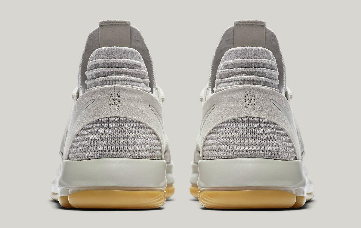 bed07bb35f2 ... Nike KD 10 Pale Grey Light Bone Gum Release Date Heel 897817-001 ...