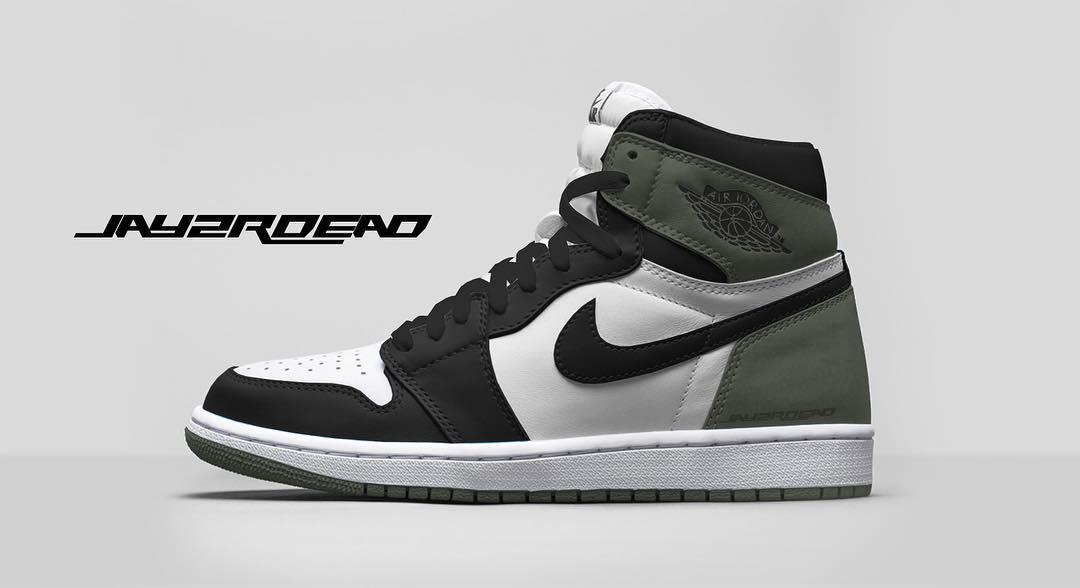Air Jordan 1 Clay Green Release Date 555088-135
