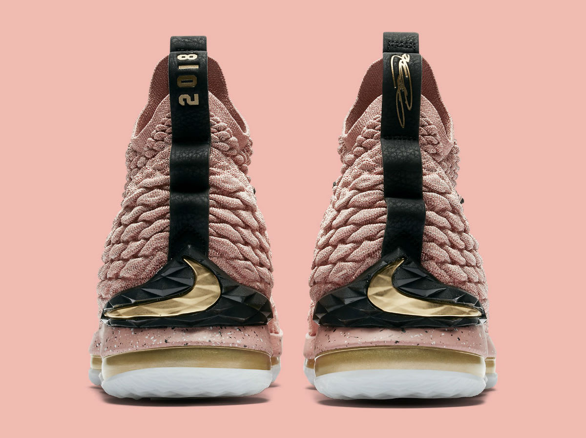 Nike LeBron 15 All-Star Pink Release Date 897650-600 Heel