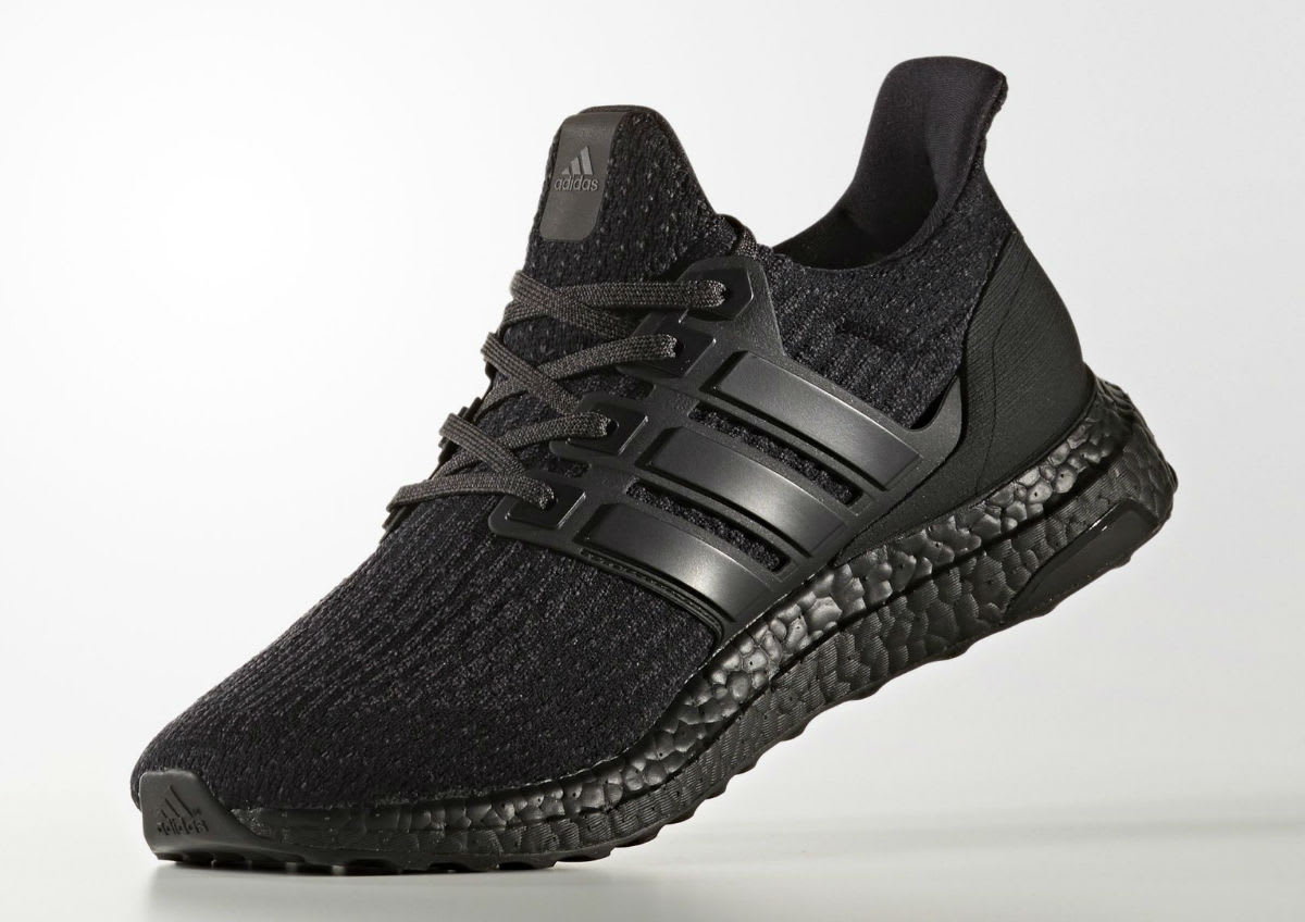 adidas ultra boost 3 0 triple black release date cg3038. Black Bedroom Furniture Sets. Home Design Ideas