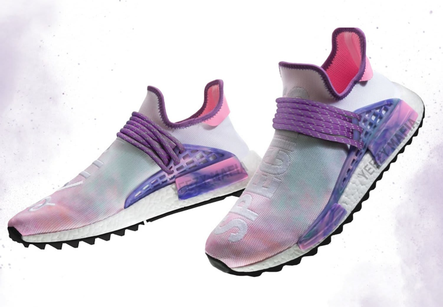 Pharrell x Adidas NMD Hu Holi Pink Glow Release Date AC7362