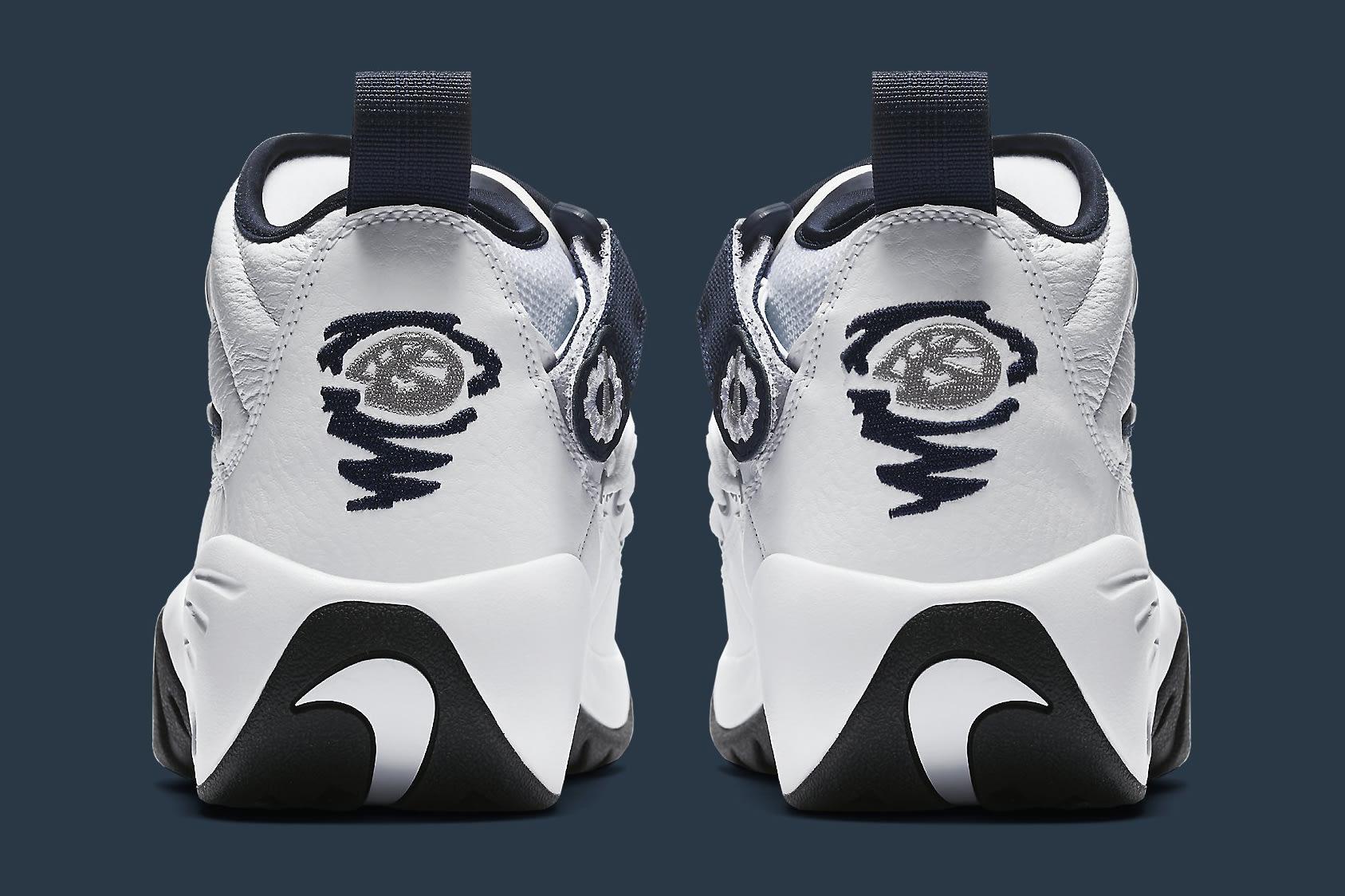 Nike Air Shake Ndestrukt 880869-102 White Navy Heel