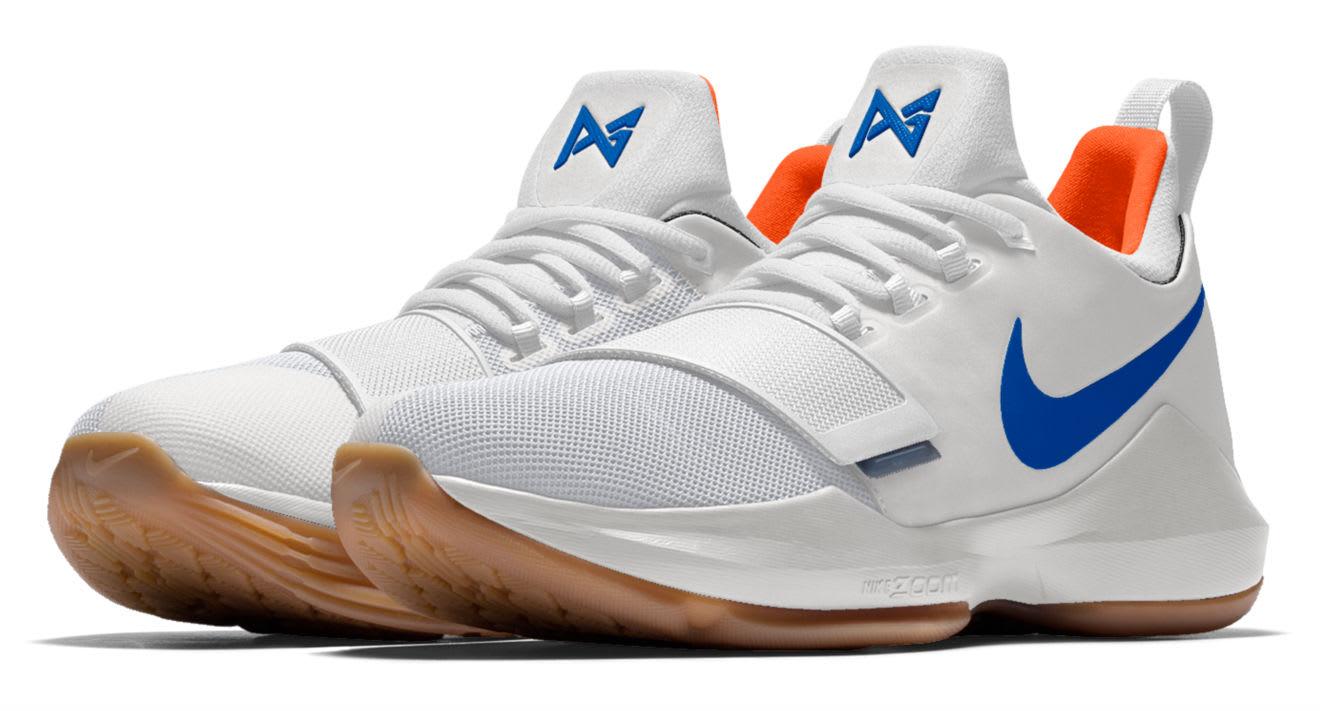 Nike ID PG1 OKC White