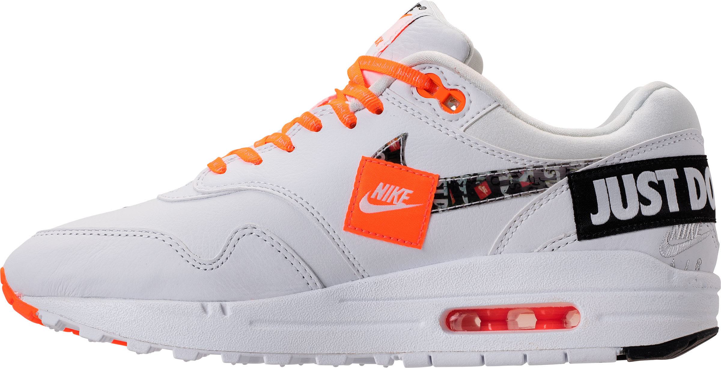 Nike Air Max 1 Just Do It White Release Date 917691-100 Medial