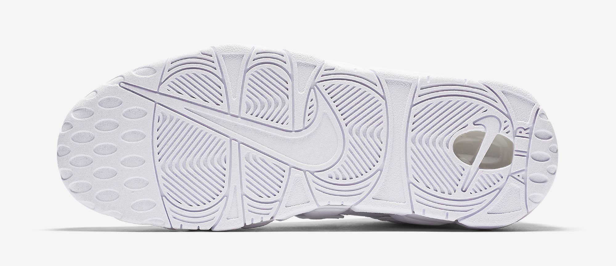 Triple White Nike Air More Uptempo 921948-100 Sole