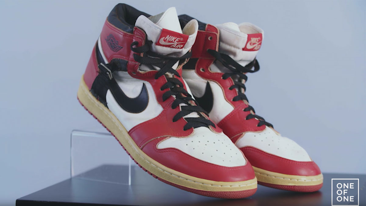 7bc435a6d3a0c0 Michael Jordan Air Jordan 1 I Strap Injury Sample PE 1986
