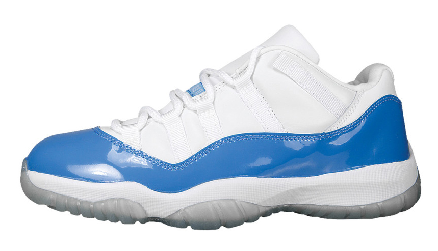 1ceb2058b1f14b White Blue Air Jordan 11 Low Retro Columbia 2017