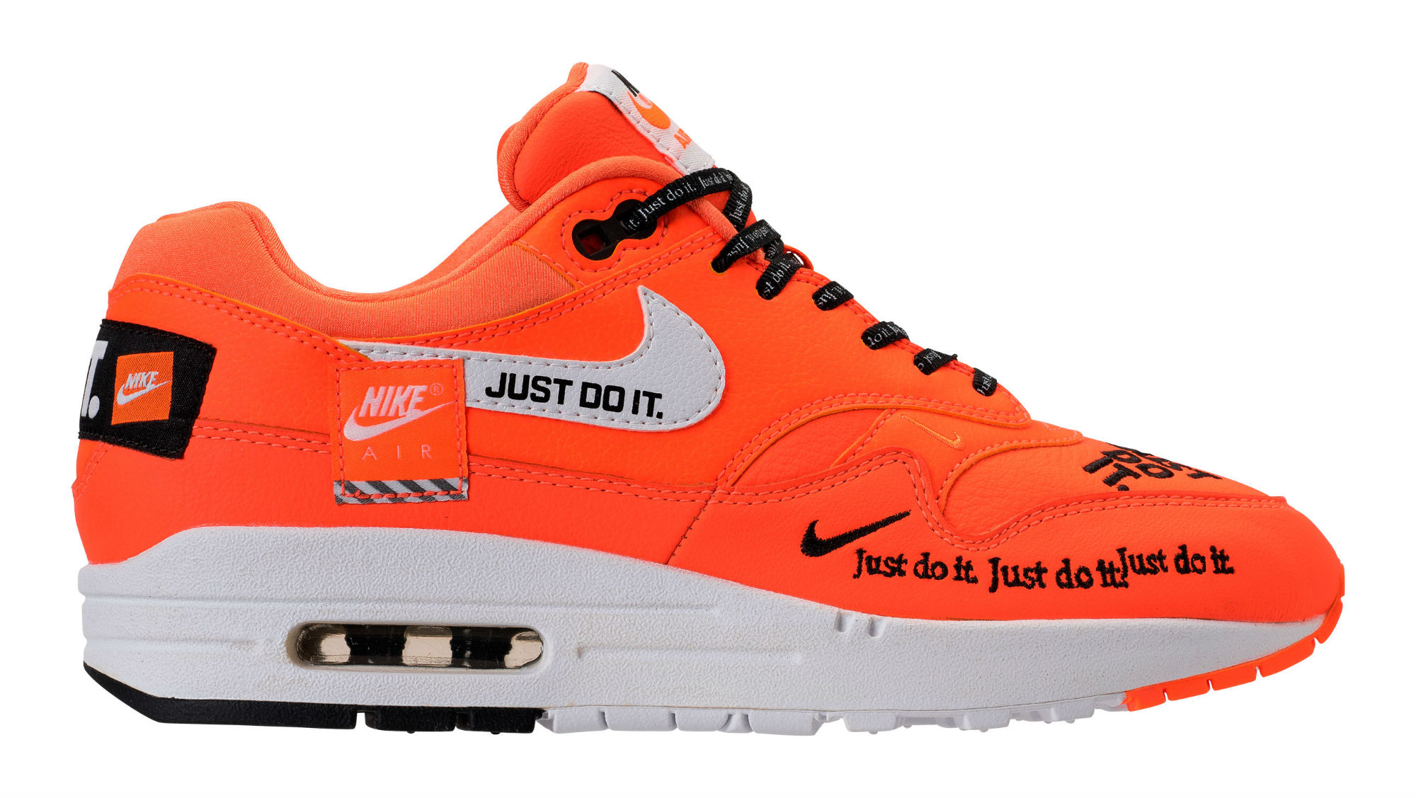 wholesale dealer e2f8b faafc Nike Air Max 1 Just Do It Orange Release Date 917691-800 Profile   Sole  Collector