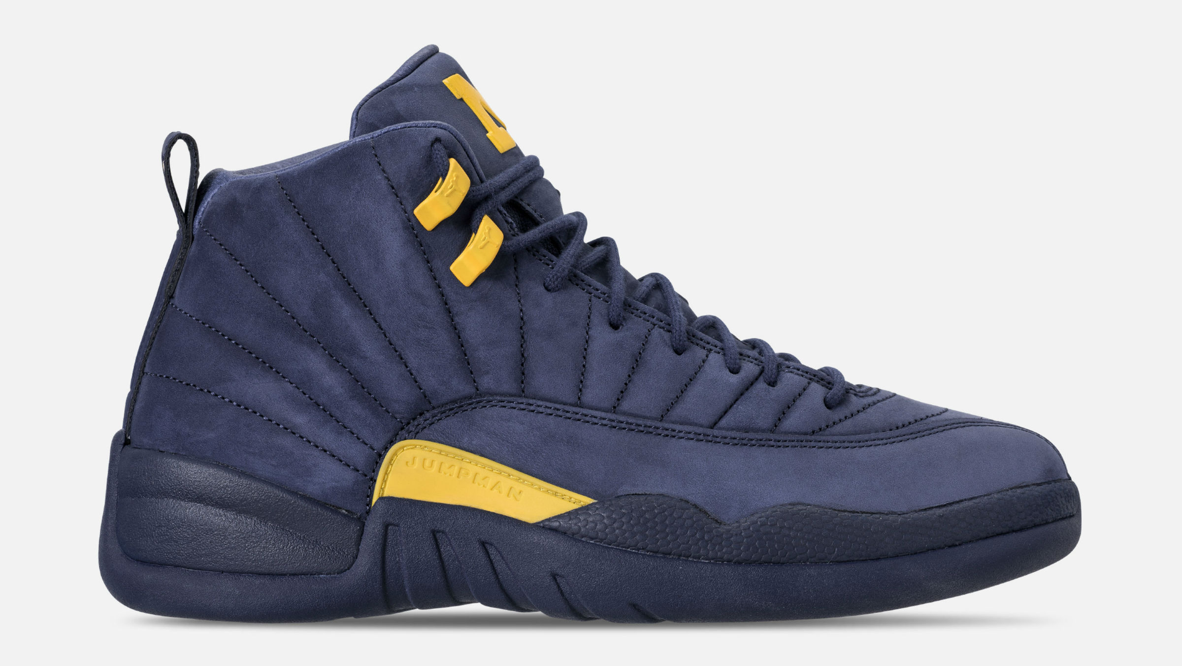 newest db41b 0dbf4  Michigan  Air Jordan 12 College Navy Amarillo BQ3180-407 Release Date    Sole Collector