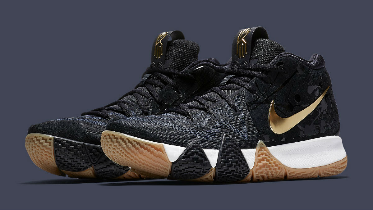 best service 25bc8 a435f Nike Kyrie 4 Pitch Blue Gold Release Date 943807-403 | Sole ...