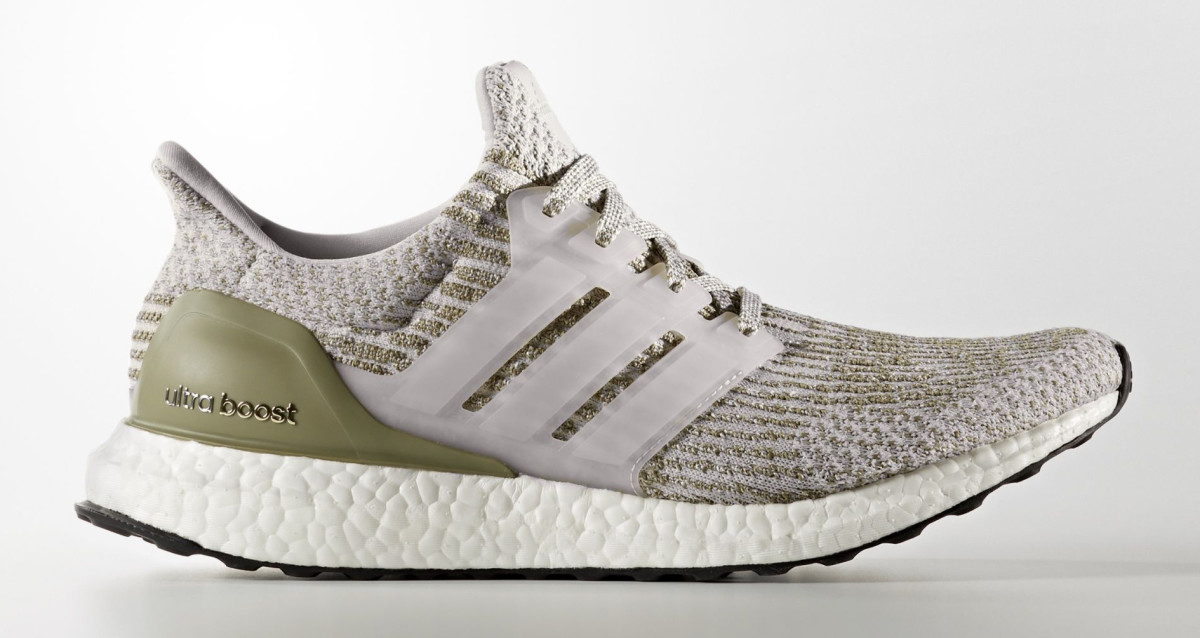 adidas ultra boost white olive gold ba8847 sole collector. Black Bedroom Furniture Sets. Home Design Ideas