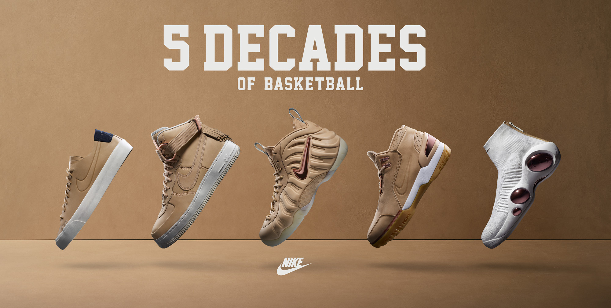 Release Dates for Nike's Vachetta Tan '5 Decades of Basketball' Pack